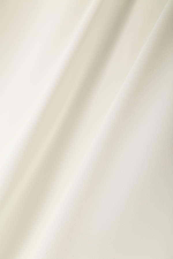 リボンジョーゼット袖口リボンブラウス