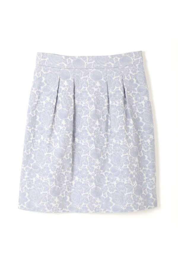 【CanCam 4月号掲載】フラワーフルーツジャガードコクーンスカート