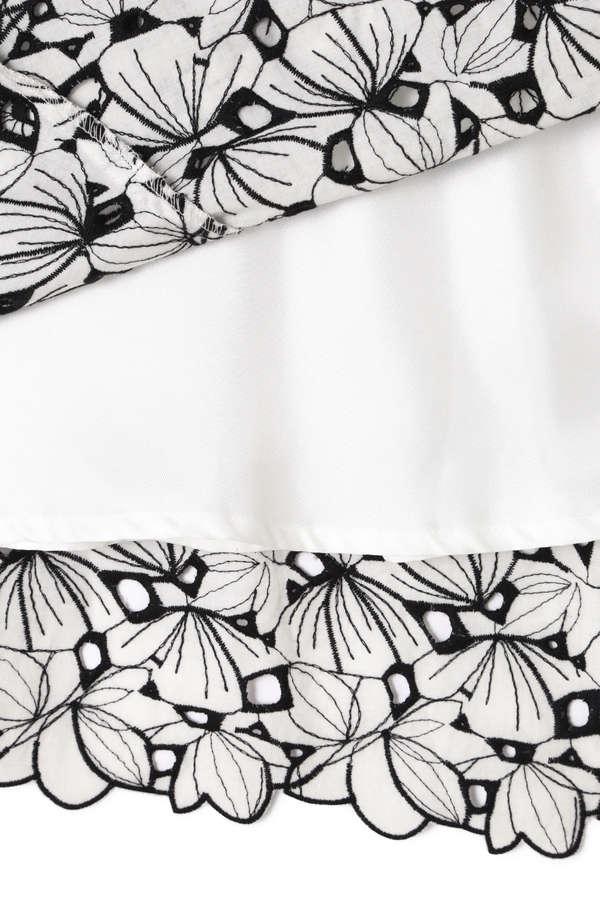 【美人百花 5月号掲載】モノトーンエンブロイダリースカート