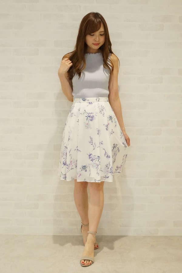 【美人百花 6月号掲載】ヴィンテージフラワープリントスカート