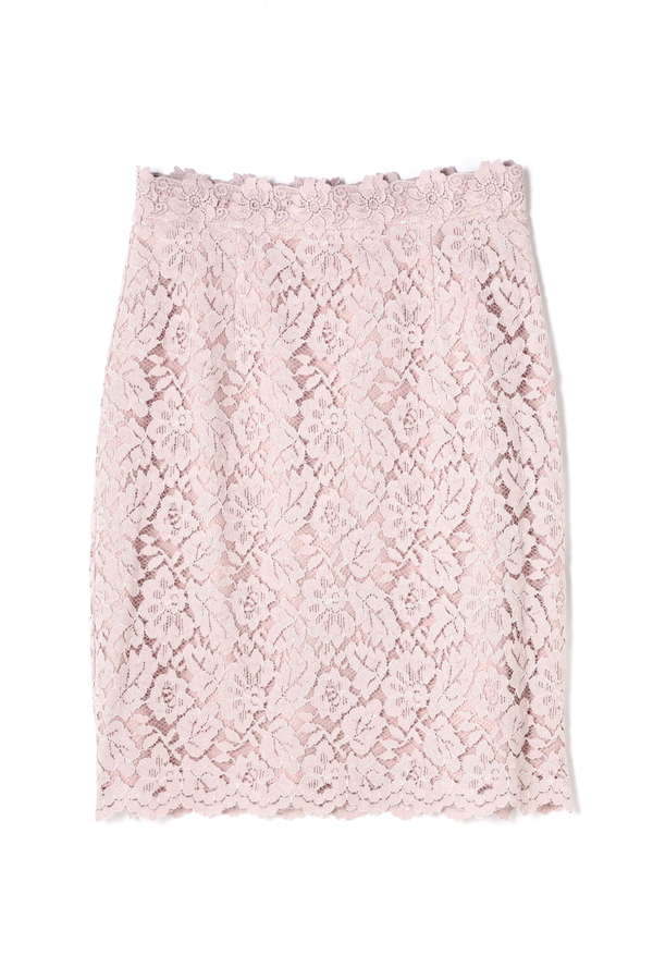 フラワーレースタイトスカート