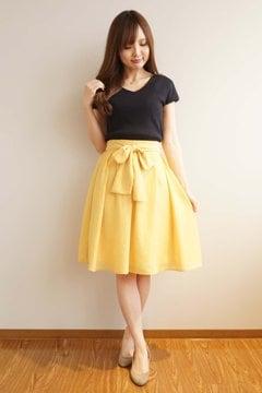 カラーローンスカート