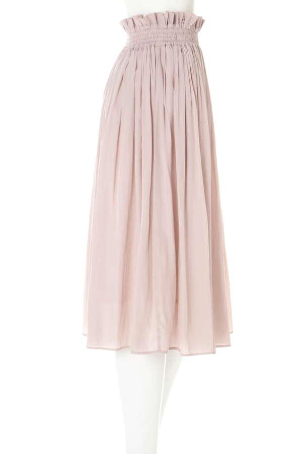 《EDIT COLOGNE》シャイニーギャザースカート