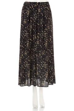 《BLANCHIC》フラワーレオパードスカート