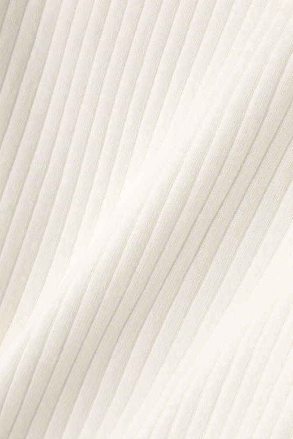 《EDIT COLOGNE》スプリングオレンジフリル襟ニット