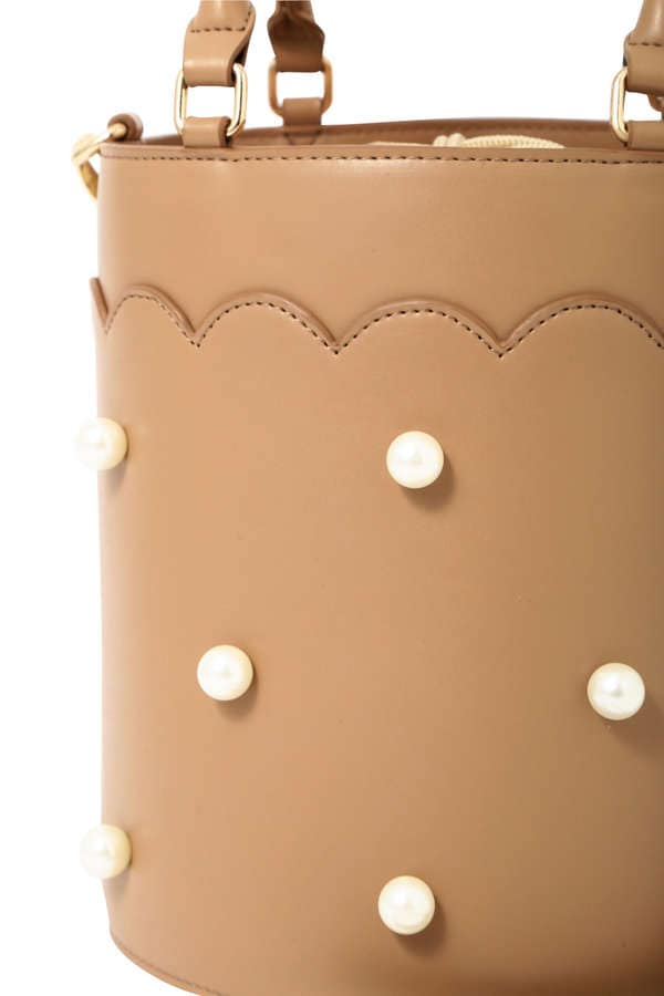 【CanCam 5月号掲載】【美人百花 4月号掲載】《EDIT COLOGNE》パールバケットバッグ