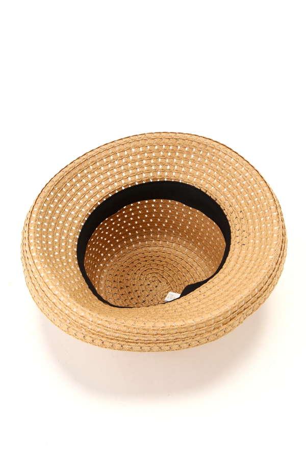 透かし編みリボンハット