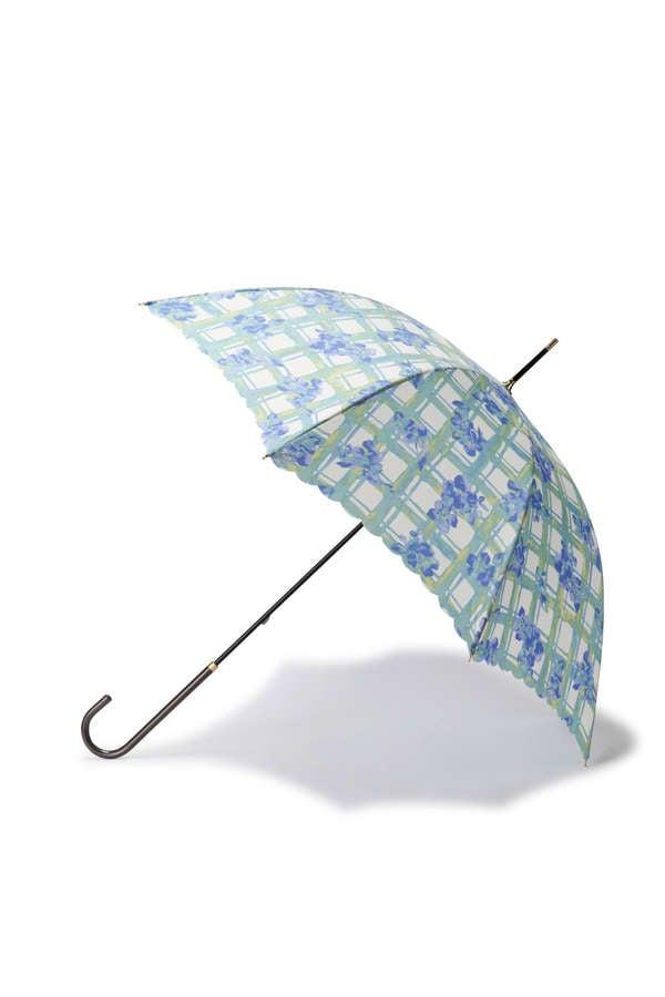 《EDIT COLOGNE》フローラルチェック長傘