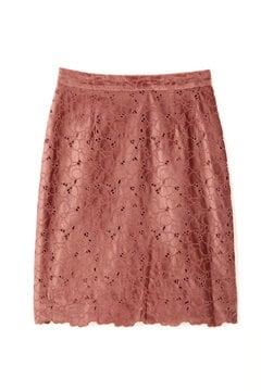 【先行予約_10月中旬入荷予定】スムースベロアエンブロイダリータイトスカート