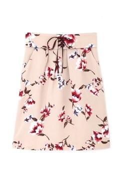 ピーチヴィンテージフラワータイトスカート