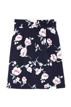 【先行予約_9月中旬入荷予定】ピーチヴィンテージフラワータイトスカート