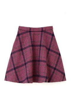 【先行予約_10月上旬入荷予定】ビッグチェックフレアースカート