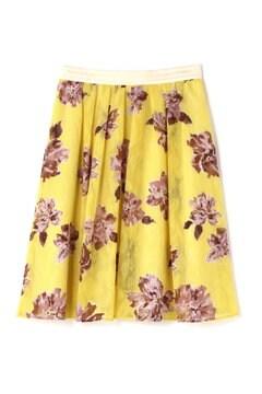ビッグフラワーカットジャガードスカート