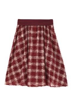 チェックオパールフレアースカート