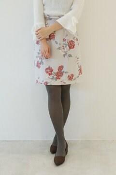 アンティークローズプリントスカート