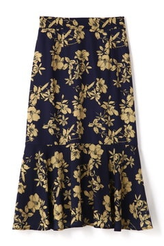 《BLANCHIC》ダークフラワースカート