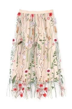 《BLANCHIC》フラワーチュールスカート