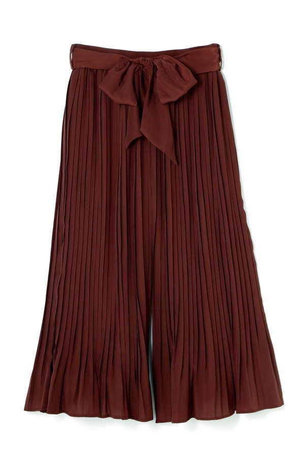 SATIN PLEATS PANTS