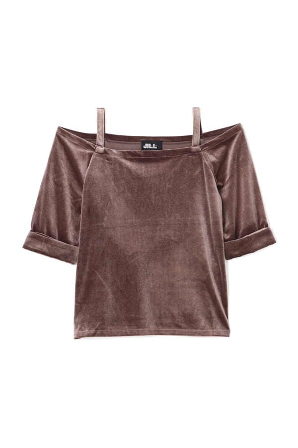 VELOUR OFFSHOUK TOPS