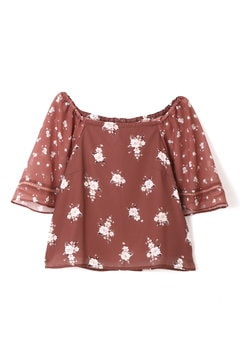 MIXED FLORAL BLOUSE