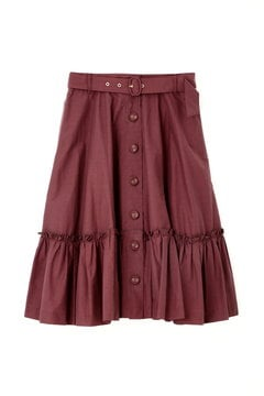 BUTTONED PLEAT-GATHER