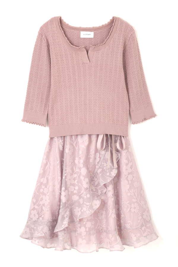 ASSYMME SHEER DRESS
