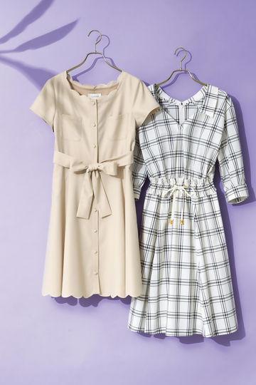SHIRR WAIST SHIRT DRESS