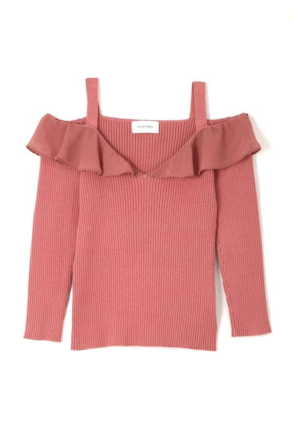 【sweet 4月号掲載】DECOLLETTE RIB TOPS