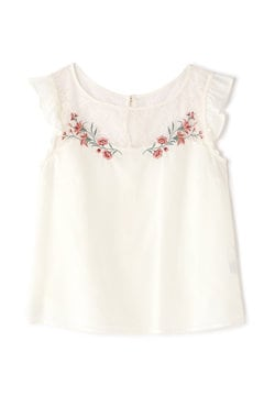 LACY YORK EMBROIDERY BLOUSE