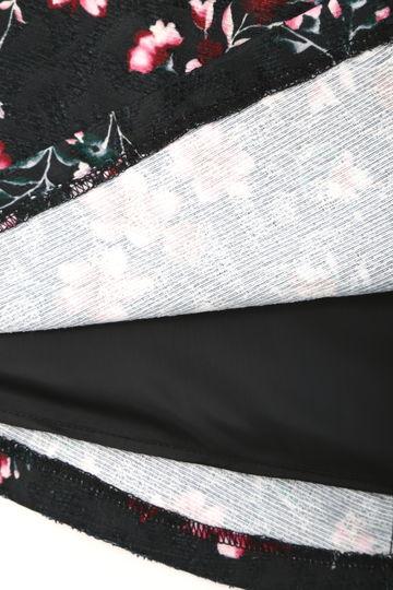 ブロケード フローラル フレアー スカート