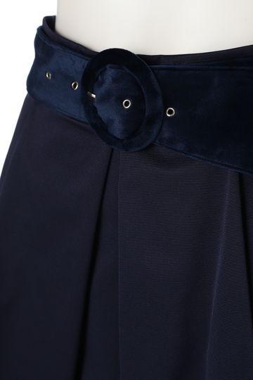 フレアー ベロア ベルト スカート