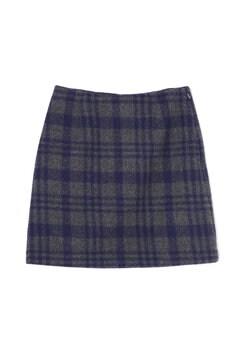 ギンガムチェック台形スカート