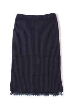 【MOOK本掲載】裾レースリブタイトスカート