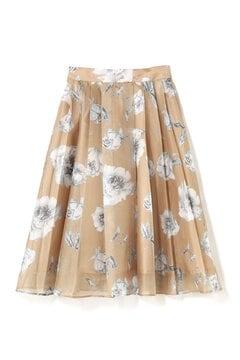 プリーツフラワースカート