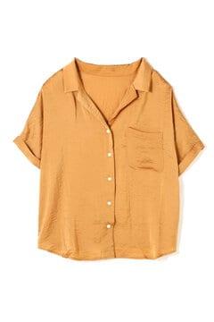 ヴィンテージサテン開襟シャツ
