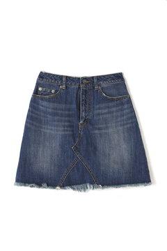 【ベッキーさん着用アイテム・17SSMOOK BOOK掲載】デニム台形ミニスカート