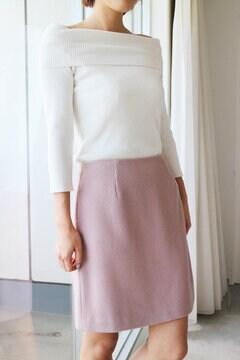 ヘリンボーン台形ミニスカート