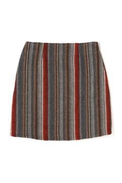 ネイティブストライプ台形スカート