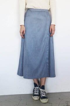 カットスウェードラップロングスカート