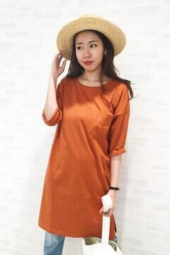 ポケ付Tシャツワンピース