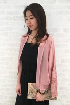 袖刺繍ブルゾン