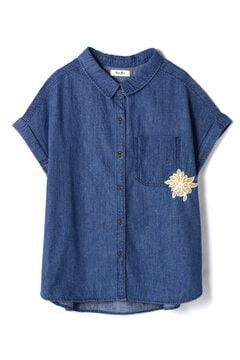 BACK刺繍デニムシャツ