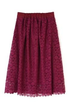 カラーレースギャザースカート