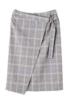 グレンチェックラップスカート