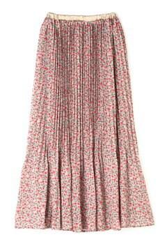 オータムフラワープリーツスカート