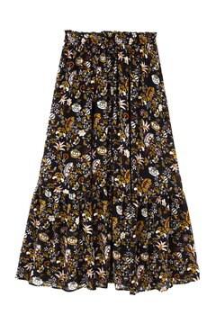 オリエンタルフラワーフロントボタンスカート