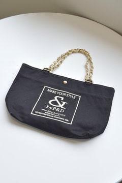 スクエアロゴ チェーンミニトートバッグ