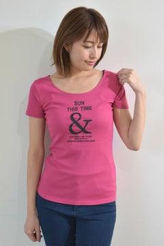 ロゴプリントフライスTシャツ