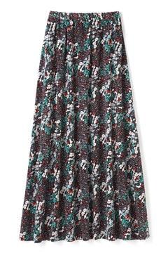ガーデンフラワープリントロングスカート