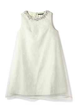 レイヤードオーガンジードレス
